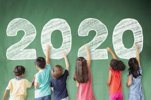 children-drawing-new-year-chalkboard-school-157362830